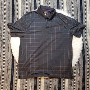 Greg Norman Men's Plaid Play Dry Golf Polo